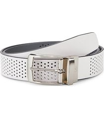 air perforated leather belt