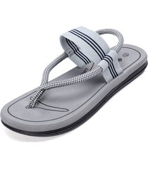 sandali casual da uomo con lacci elastici slip on clip toe soft