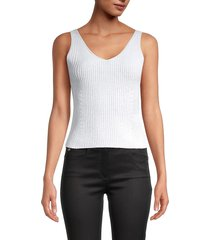 vince women's directional ribbed tank top - glacier - size xs