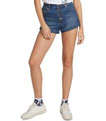 volcom juniors' button-fly denim shorts