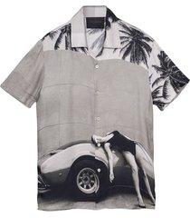 heading south short sleeve shirt, black and white