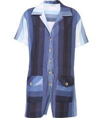 macaquinho dress to listra oceano azul - kanui