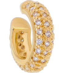 piercing de encaixe ayleen argola zircônia cristal folheado a ouro 18k