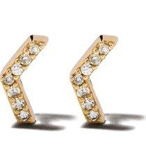 astley clarke 'varro honeycomb' diamond stud earrings - metallic