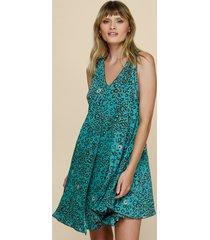 poupette st barth lala mini dress green leo