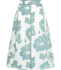 3.1 phillip lim abstract daisy a-line skirt - white