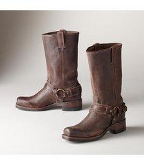 women's frye western belted harness boots