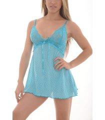 babydoll azul amawi. ref: 0807