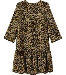 dress leopard print drop waist