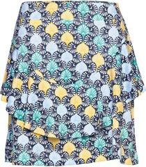 fia skort 45 cm kort kjol blå daily sports