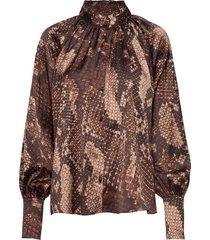 mandy blouse blouse lange mouwen bruin twist & tango