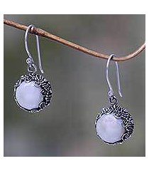cultured pearl dangle earrings, 'sanur moon' (indonesia)