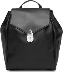 drawstring bp w/flap ryggsäck väska svart calvin klein