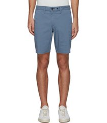 'paperweight' back contrast stitch detail chino shorts