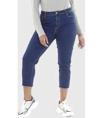 jeans brave soul azul - calce regular