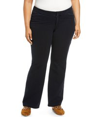 plus size women's lafayette 148 new york suffolk high waist flare jeans, size 20w - blue