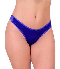 tanga sexy vip lingerie fio duplo azul