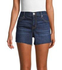 hudson women's gracie mid-rise denim shorts - mystic - size 29 (6-8)