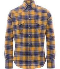 c17 - cedixsept jeans antonie western shirt   yellow check   c17wst-15