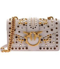 love mini icon new studs cl light grey crossbody bag