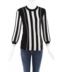 bottega veneta striped knit sweater black/white sz: s