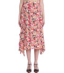 stella mccartney ashlyn skirt in multicolor silk