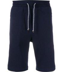 brunello cucinelli jersey shorts - blue