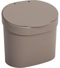 lixeira coza com tampa para pia warm gray