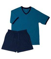 pijama masculino curto mash 811.25 masculino gg azul unica