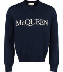 alexander mcqueen logo crew-neck pullover