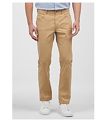 1905 collection tailored fit flat front casual pants - big & tall clearance by jos. a. bank