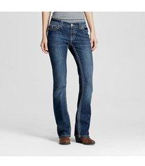 paisley sky women's mid rise bootcut jean, 6, dark denim solid