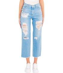 jeans mom-fit con strass 'maddie 16' 1j10lg y649