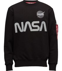 nasa reflective sweater sweat-shirt tröja svart alpha industries