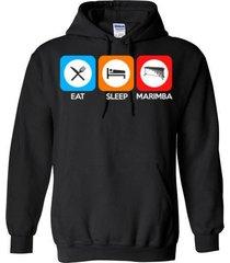 eat sleep marimba blend hoodie