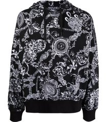 versace jeans couture black cotton hoodie