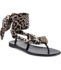inc women's malana scarf flat sandals, created for macy's women's shoes