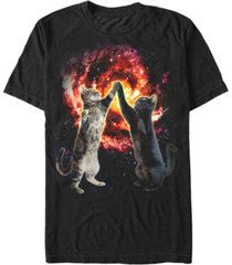 fifth sun men's cat bang short sleeve crew t-shirt