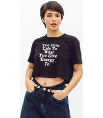 camiseta amplia corta manga corta hoja