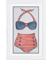 "paragon vintage-like swimsuit 1 framed wall art, 45"" x 29"""
