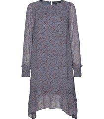 selina dress knälång klänning blå soft rebels
