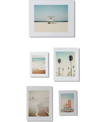 deny designs 5th street five-piece gallery art print set, size one size - white
