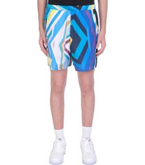 formy studio shorts in blue polyester