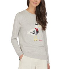 barbour patterson graphic long-sleeve top