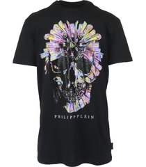 philipp plein colorful skull t-shirt
