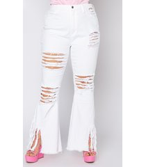 akira plus it is up to me fringe flare jeans