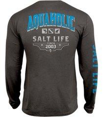 salt life men's aquaholic icons upf performance graphic long sleeve t-shirt