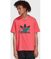 polera adidas originals pt3 t-shirt logo rosa - calce regular