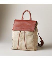 linen simplicity backpack