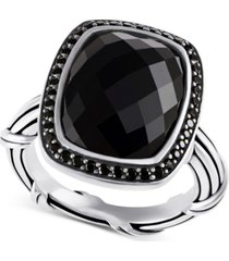 peter thomas roth onyx (8-7/8 ct. t.w.) & black spinel (1/3 ct. t.w.) ring in sterling silver